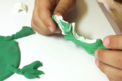 LIFE CYCLE OF A FROG – Shape, Colour Mixing - Step Two