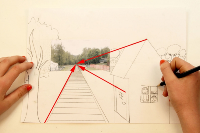 ALL ABOARD! –One-Point Perspective, Space, Colour - Step Seven