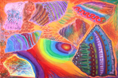 EXPLORING OIL PASTEL – Coloured Paper - Step Two