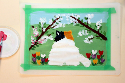 INSPIRED BY MAUD LEWIS – Canadian Folk Artist - Step Six