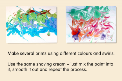 MONOTYPES with Watercolour and Shaving Cream - Step Seven