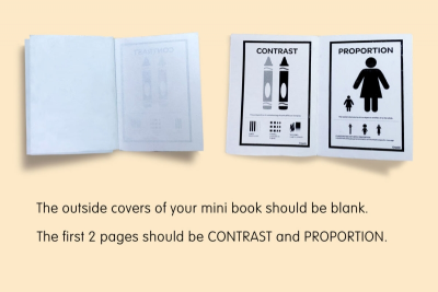 PRINCIPLES OF DESIGN – Bookmaking, Design - Step Two