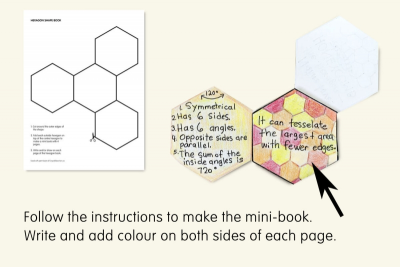 POLYGON SHAPED MINI FOLDOUT BOOKS – Colour, Shape, Geometry - Step One