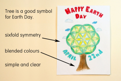 EARTH DAY CIRCLE ART – Symmetry, Colour, Contrast - Step Four