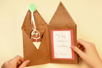FAMILY HOLIDAY TRADITIONS – Bookmaking, Shape, Contrast - Step Seventeen