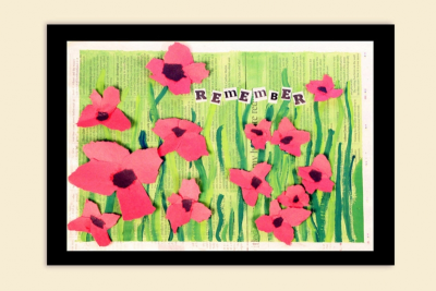 REMEMBRANCE DAY – Mixed Media, Contrast, Rhythm - Step Six