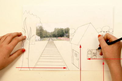 ALL ABOARD! –One-Point Perspective, Space, Colour - Step Six