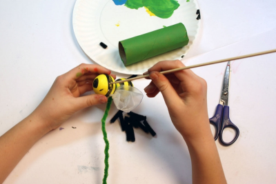 BUZZY BEE – Creating a Kazoo Puppet - Step Thirteen