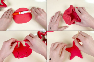 HANGING STAR ORNAMENT –Shape, Colour, Texture - Step One