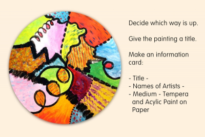COOPERATIVE CIRCLE PAINTING – Line, Colour, Unity - Step Four