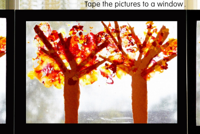 TREES IN FALL – Shape, Line, Colour - Step Seven