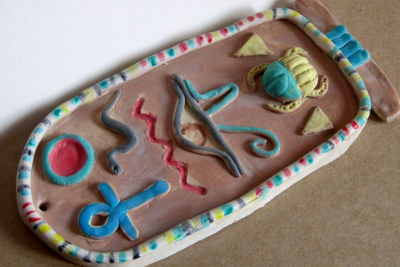 EGYPTIAN CARTOUCHE – Clay, Composition, Colour - Step Six