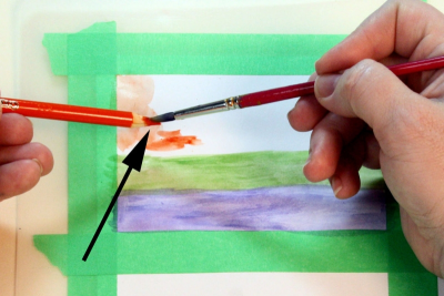 EXPLORING WATERCOLOUR PENCILS – Simple Techniques - Step Six