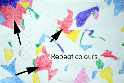 ALL THOSE CRAZY LEAVES – Composition, Shape, Colour - Step Two