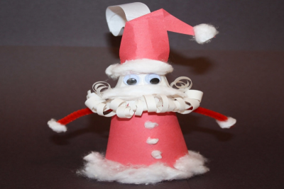 SANTA ORNAMENT – 2-D and 3-D Shapes - Step Ten