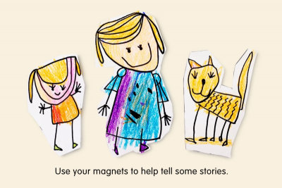 STORY CHARACTER MAGNETS – Shape, Line, Colour - Step Five