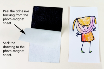 STORY CHARACTER MAGNETS – Shape, Line, Colour - Step Three