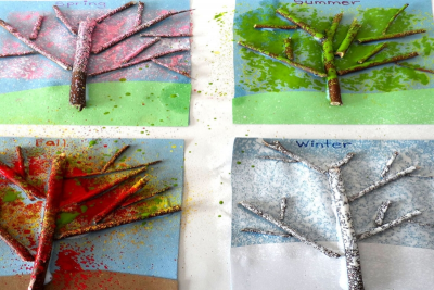 THE FOUR SEASONS – Mixed Media Trees - Step Eight
