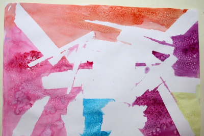 TAPE ART – Exploring Paint, Colours, Shapes and Textures - Step Five