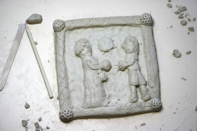 GAMES THEN AND NOW – Clay Relief Sculpture - Step Ten