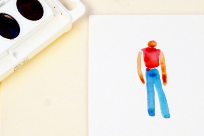 SIMPLE WATERCOLOUR PEOPLE – Shape, Gesture - Step Three