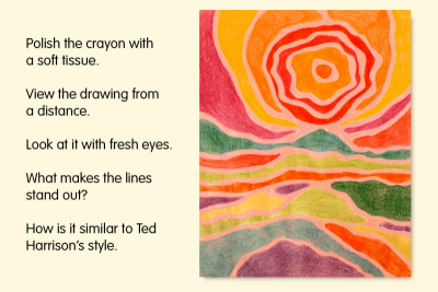 LUSCIOUS LANDSCAPES – Art In The Style of Ted Harrison - Step Four