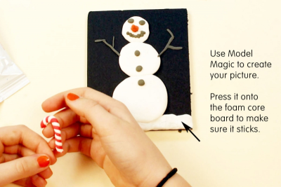 THE PERFECT GIFT – Model Magic Hanging Picture - Step Three