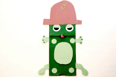 FROG PUPPET – Shape, Colour, Contrast - Step Twelve